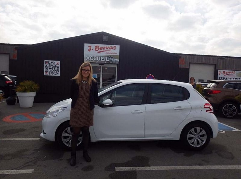 Peugeot 208 Blanche Occasion Brest